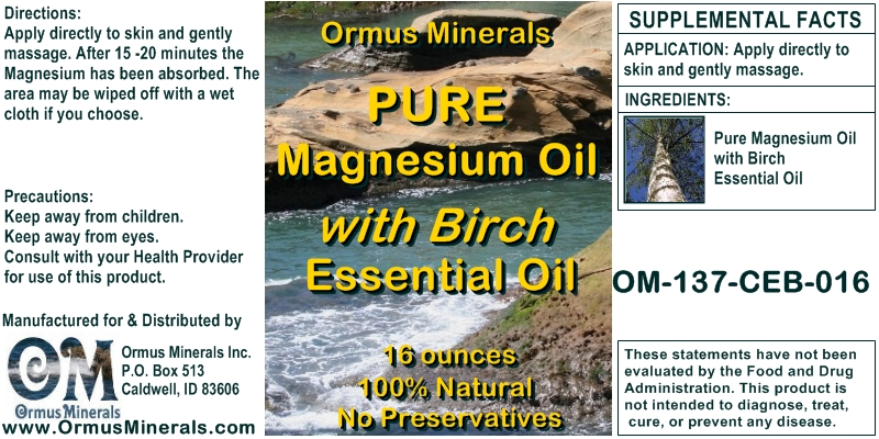 Ormus Minerals Combo Set Ocean Energy & Pure Magnesium Oil with Birch Essential Oil