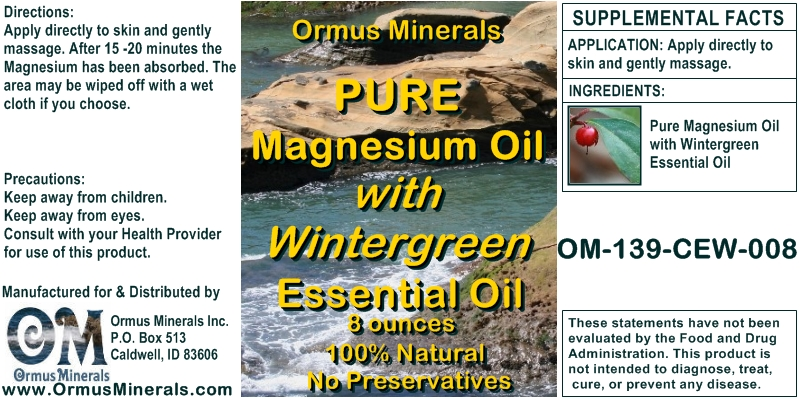 Ormus Minerals Combo Set Ocean Energy & Pure Magnesium Oil with Wintergreen Essential Oil