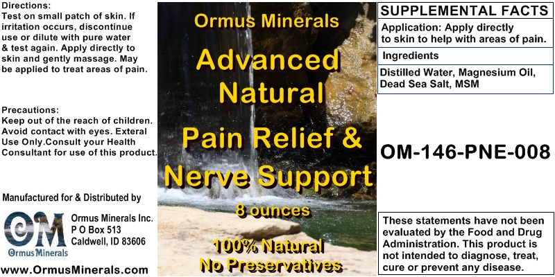 Ormus Minerals Advanced Natural Pain Relief & Nerve Support 8 oz